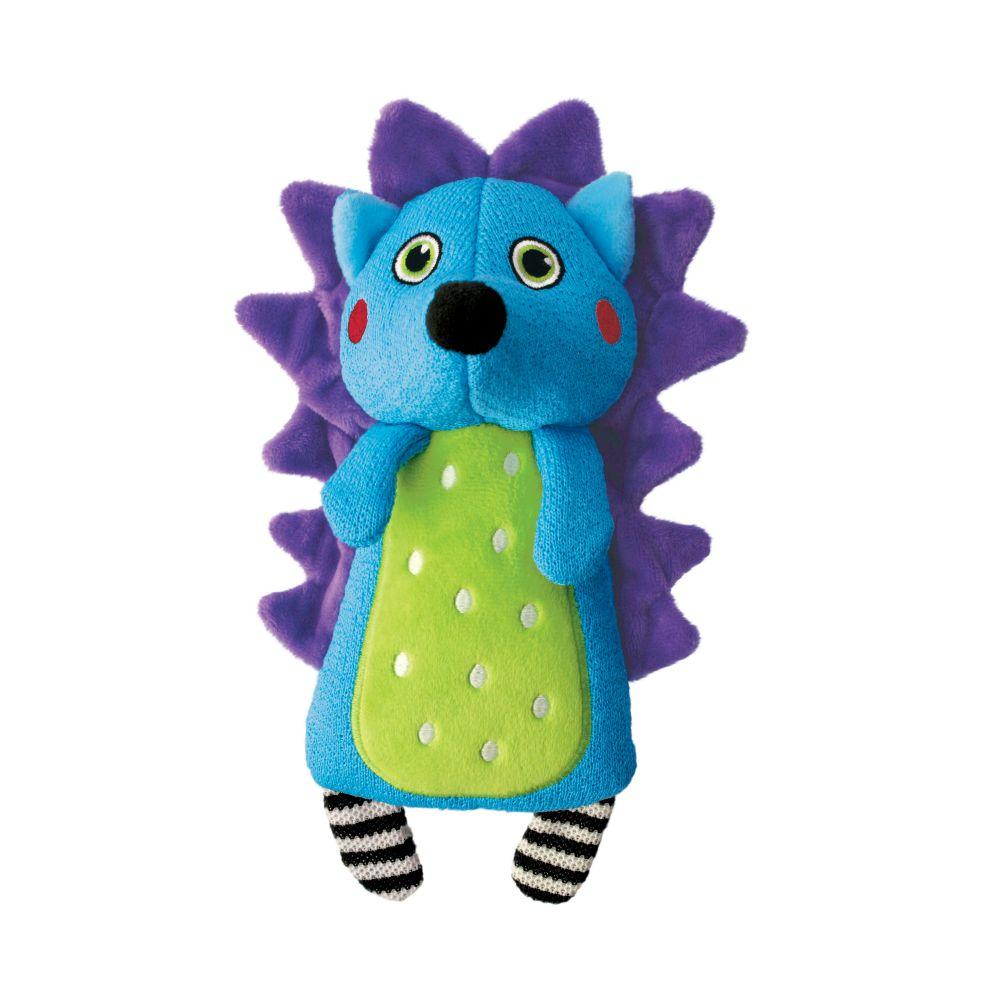 Kong Whoopz Hedgehog Dog Toy, Blue, Medium