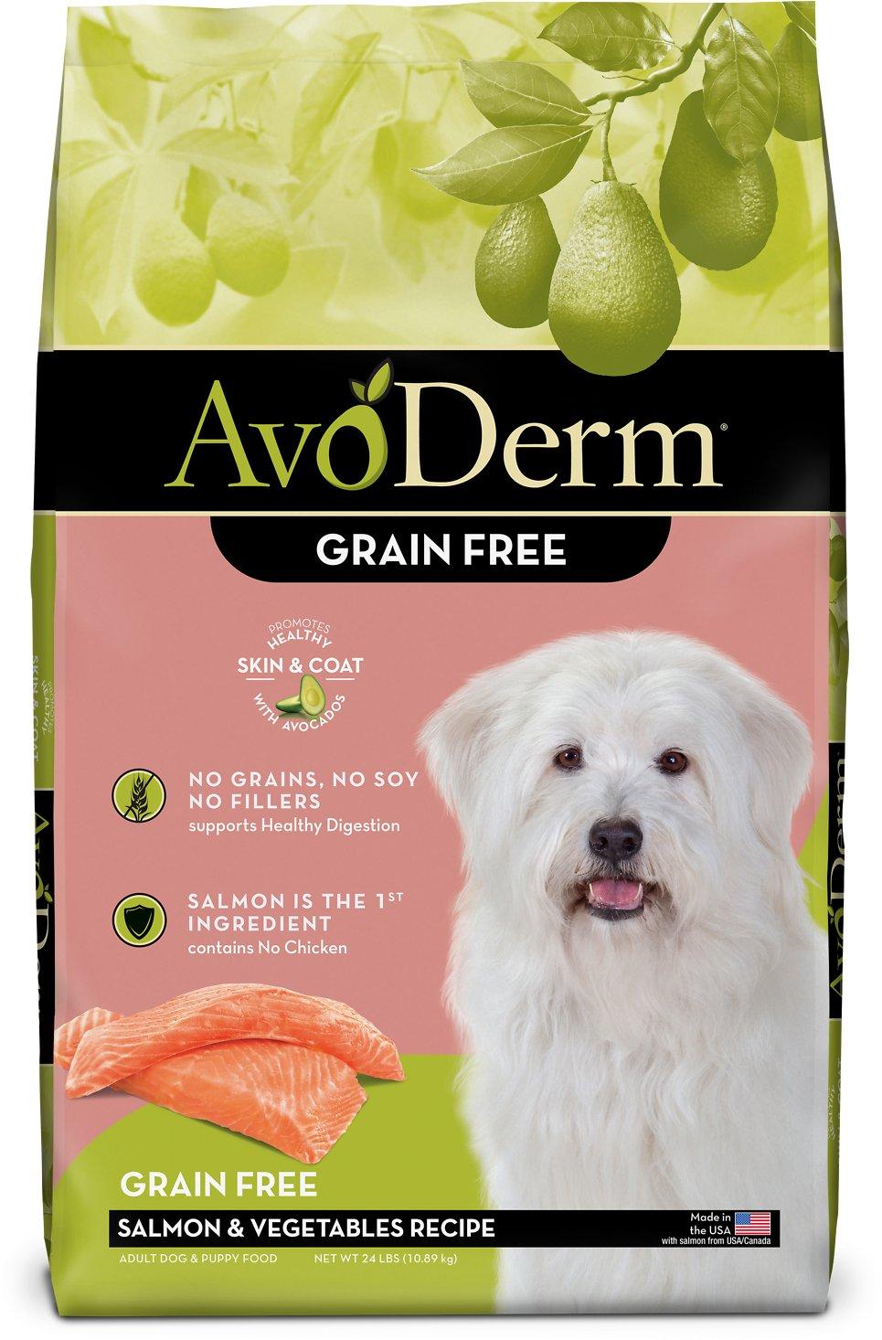 AvoDerm Salmon & Vegetable Grain-Free Dry Dog Food, 24-lb