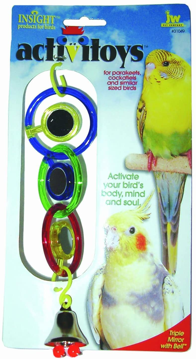 JW Pet Triple Mirror with Bell Bird Toy Image