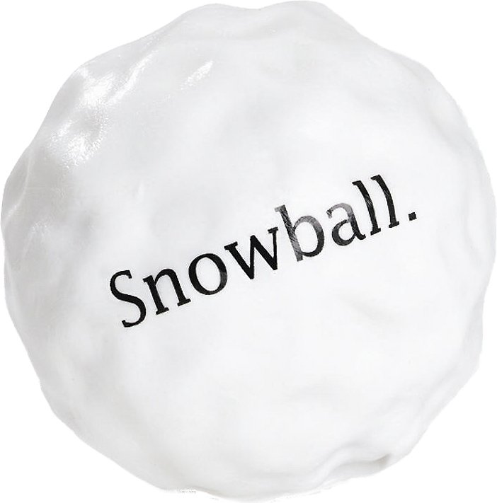 Planet Dog Orbee-Tuff Snowball Dog Toy, 3-in