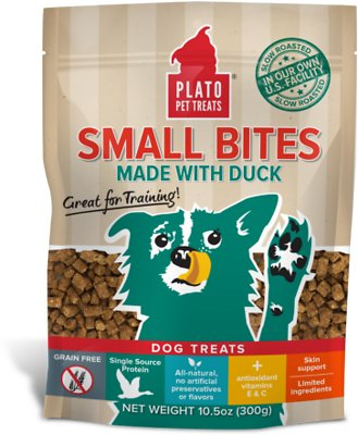 Plato Small Bites Slow Roasted Duck Dog Treats, 10.5-oz bag