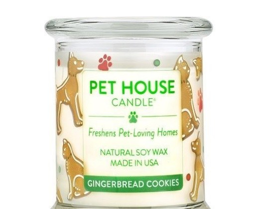 Pet House large Candle Gingerbread Cookie