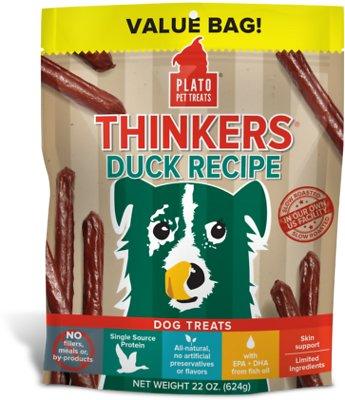 Plato Thinkers Duck Recipe Dog Treats, 22-oz bag