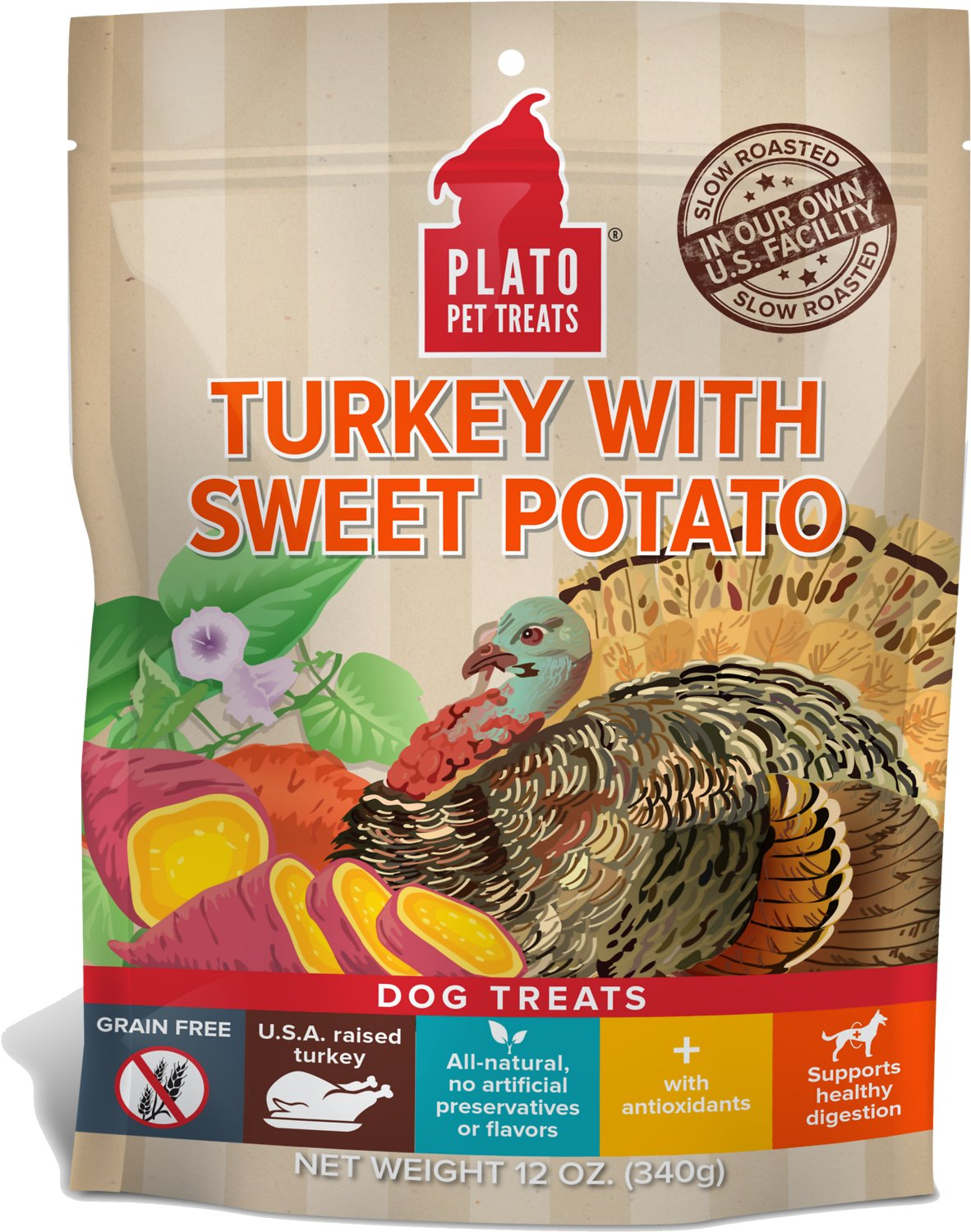 Plato Real Strips Turkey With Sweet Potato Dog Treats Image