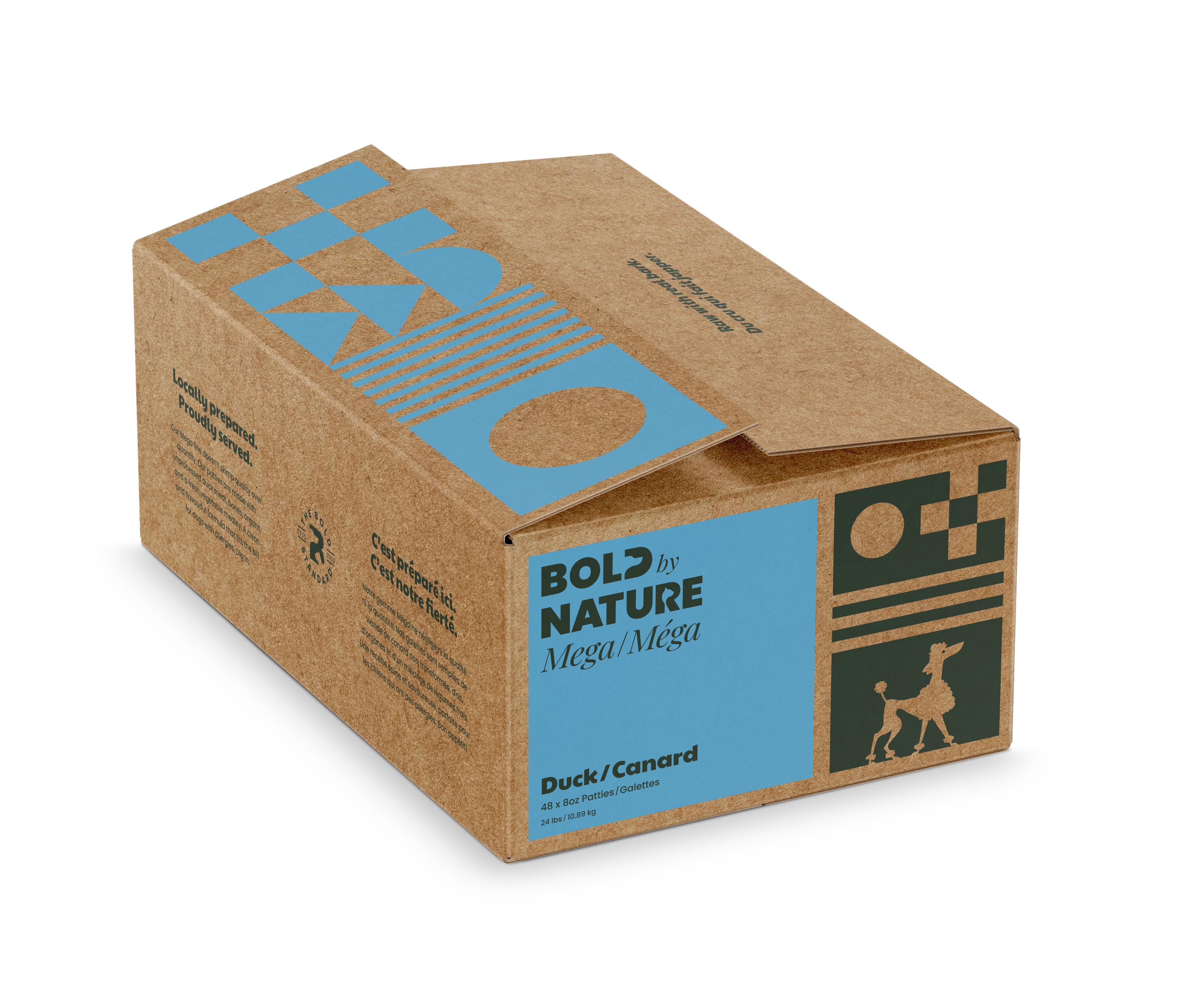 Bold by Nature Dog Mega Duck Patties Dog Food, 24-lb