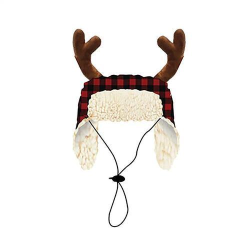 Huxley & Kent Holiday Buffalo Check Dog Hat, Large