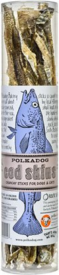 Polkadog Bakery Cod Skins Dog & Cat Treats, 4.7-oz tube