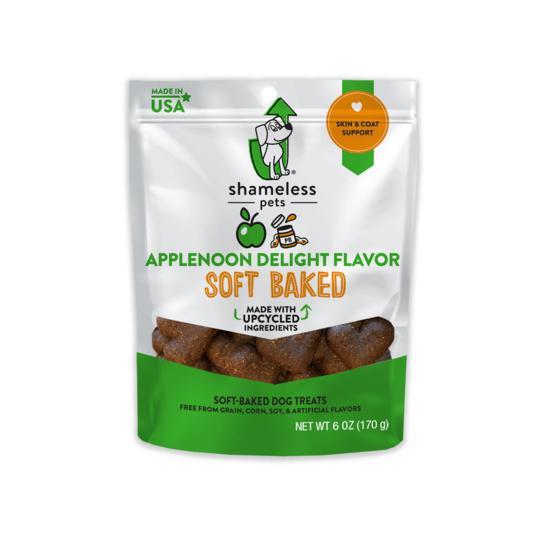 Shameless Pets Applenoon Delight Soft Baked Biscuit Dog Treats, 6-oz