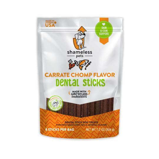 Shameless Pets Carrate Chomp Dental Stick Dog Treats, 7.2-oz