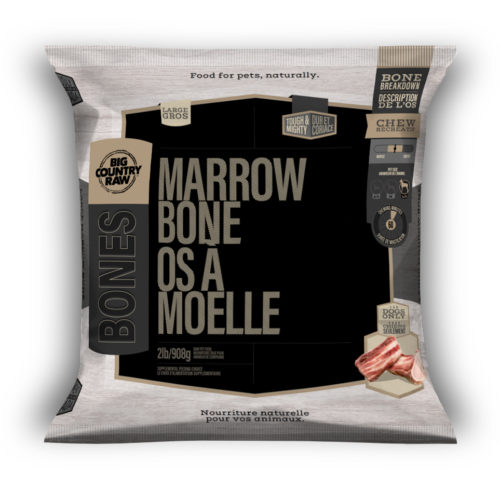 Big Country Raw Beef Marrow Bone, Large, 2-lb
