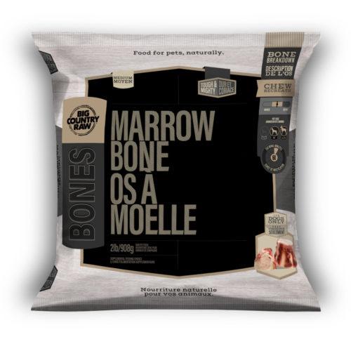 Big Country Raw Beef Marrow Bone, Small, 2-lb