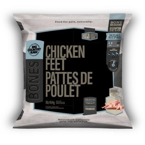 Big Country Raw Chicken Feet, 1-lb