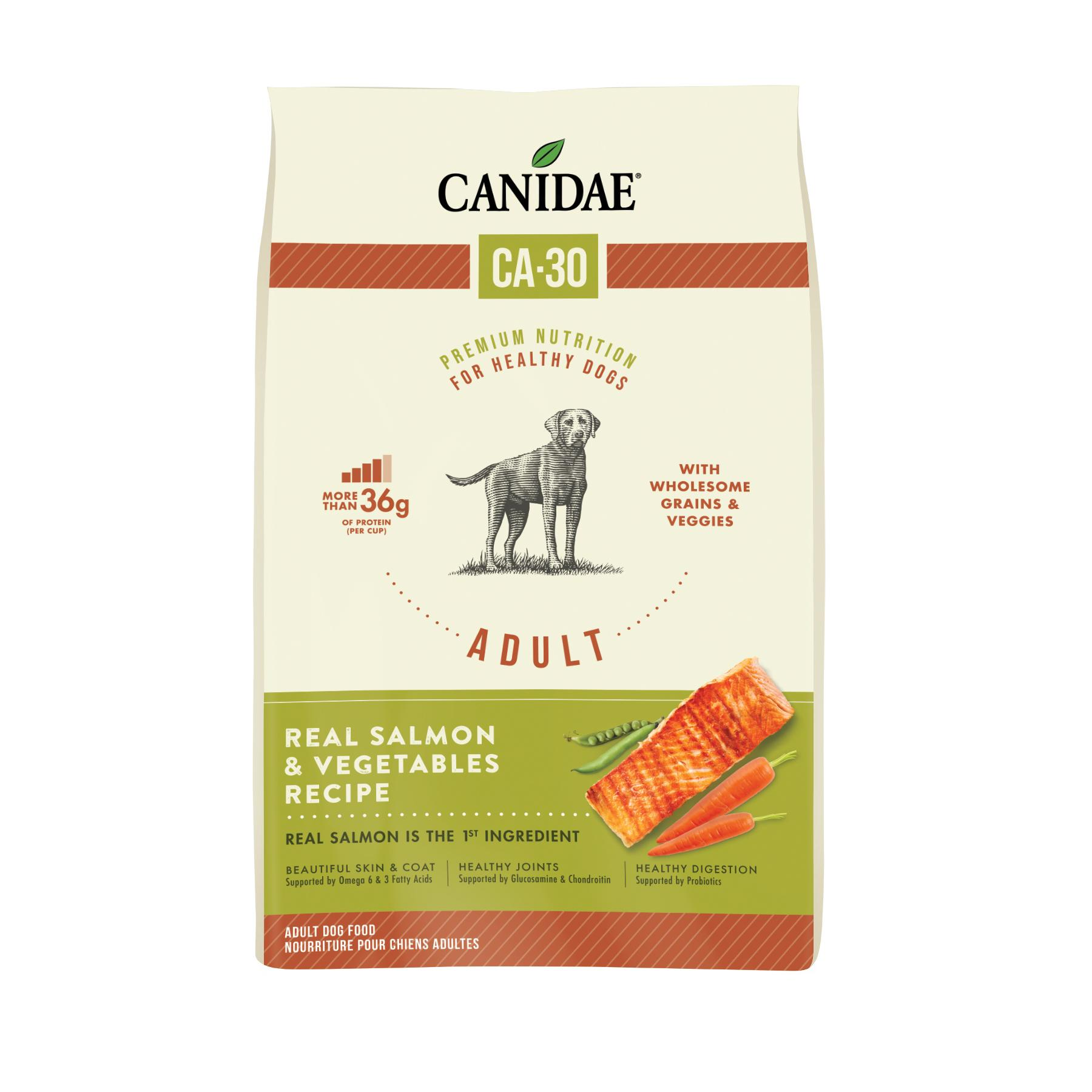 Canidae CA-30 Real Salmon & Vegetables Recipe Dry Dog Food, 25-lb