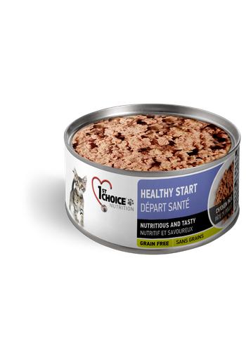 1st Choice Nutrition Healthy Start Chicken Pate Kitten Wet Cat Food, 5.5-oz