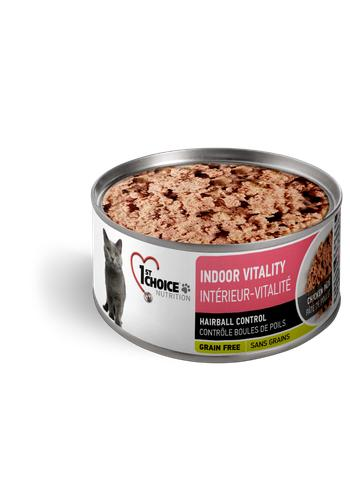 1st Choice Nutrition Indoor Vitality Chicken Pate Wet Cat Food, 5.5-oz
