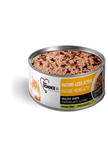 1st Choice Nutrition Mature-Less Active Chicken Pate Senior Wet Cat Food, 5.5-oz