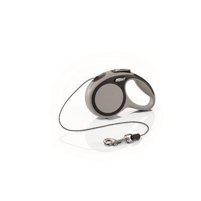 Flexi New Comfort Cord Dog Leash, Grey, X-Small, 10-ft