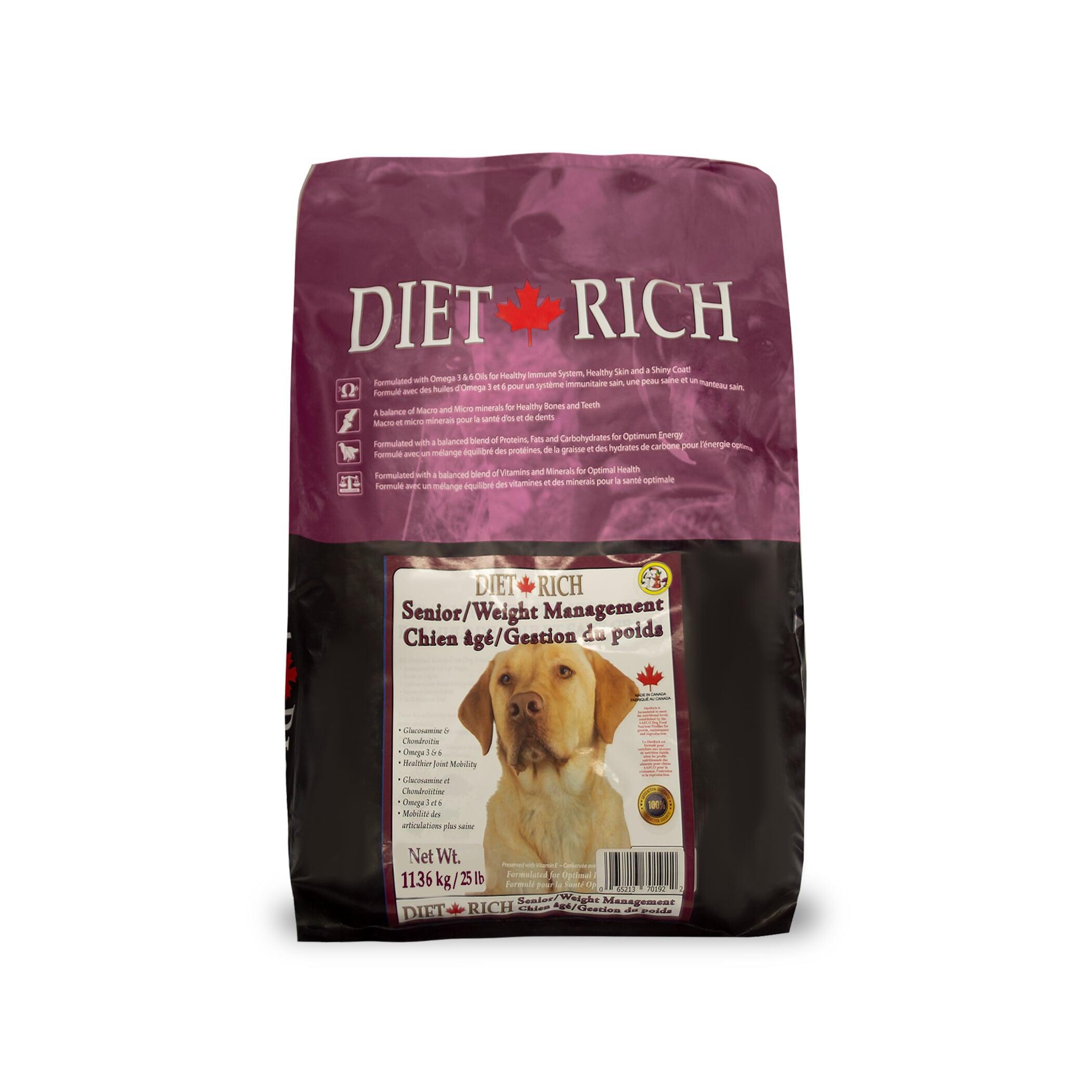 Dietrich Senior/Weight Management Dry Dog Food, 11.36-kg