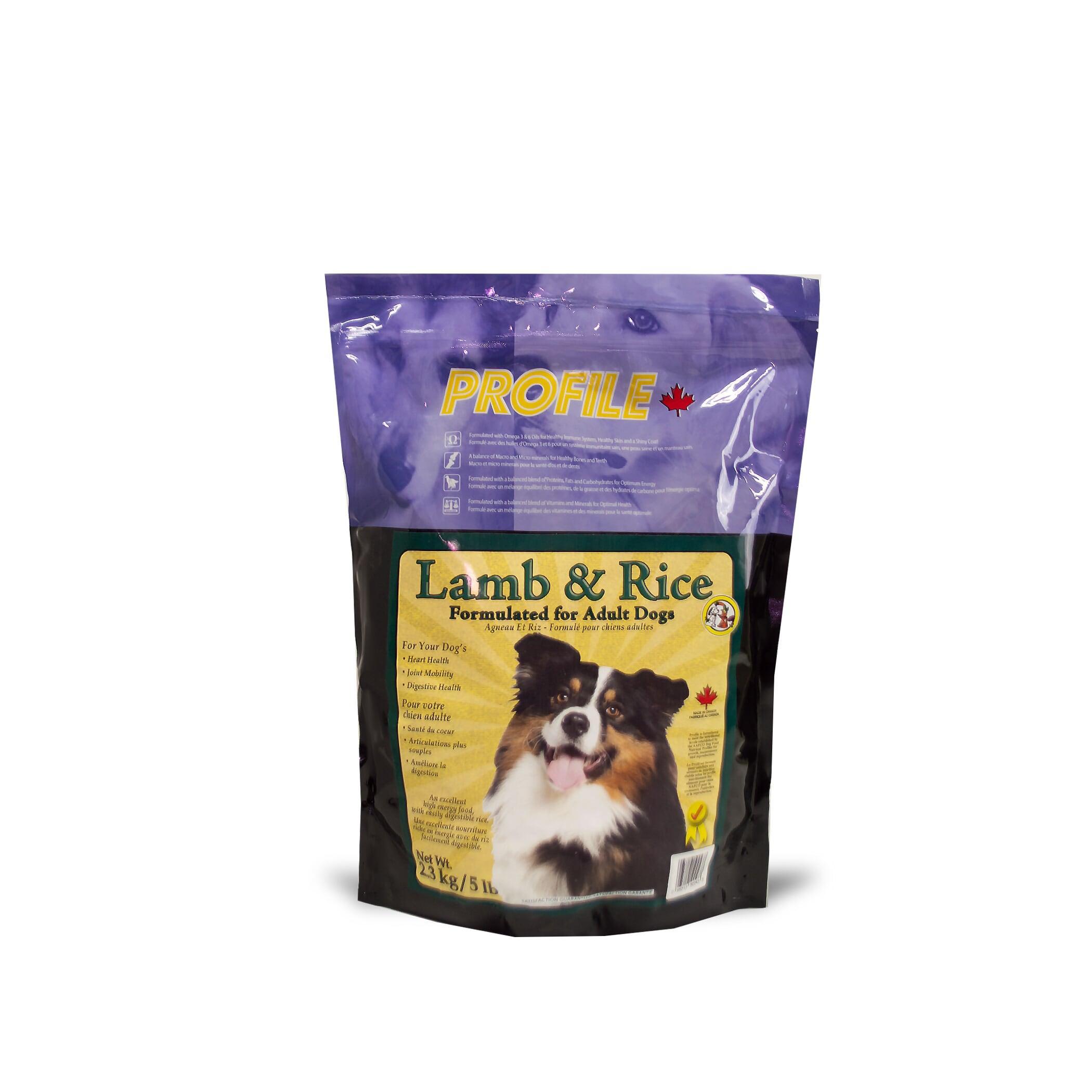 Profile Lamb & Rice Dry Dog Food, 2.3-kg