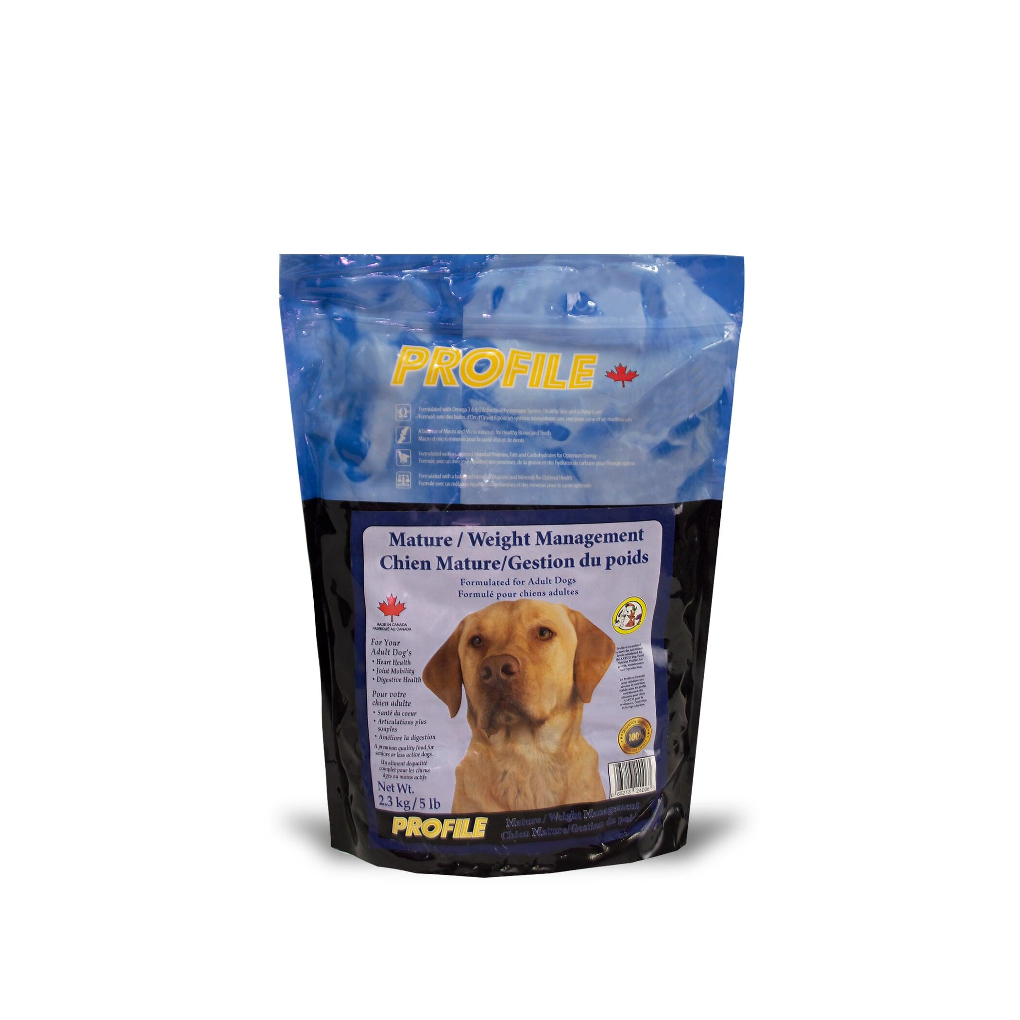 Profile Mature/Weight Management Dry Dog Food, 2.3-kg