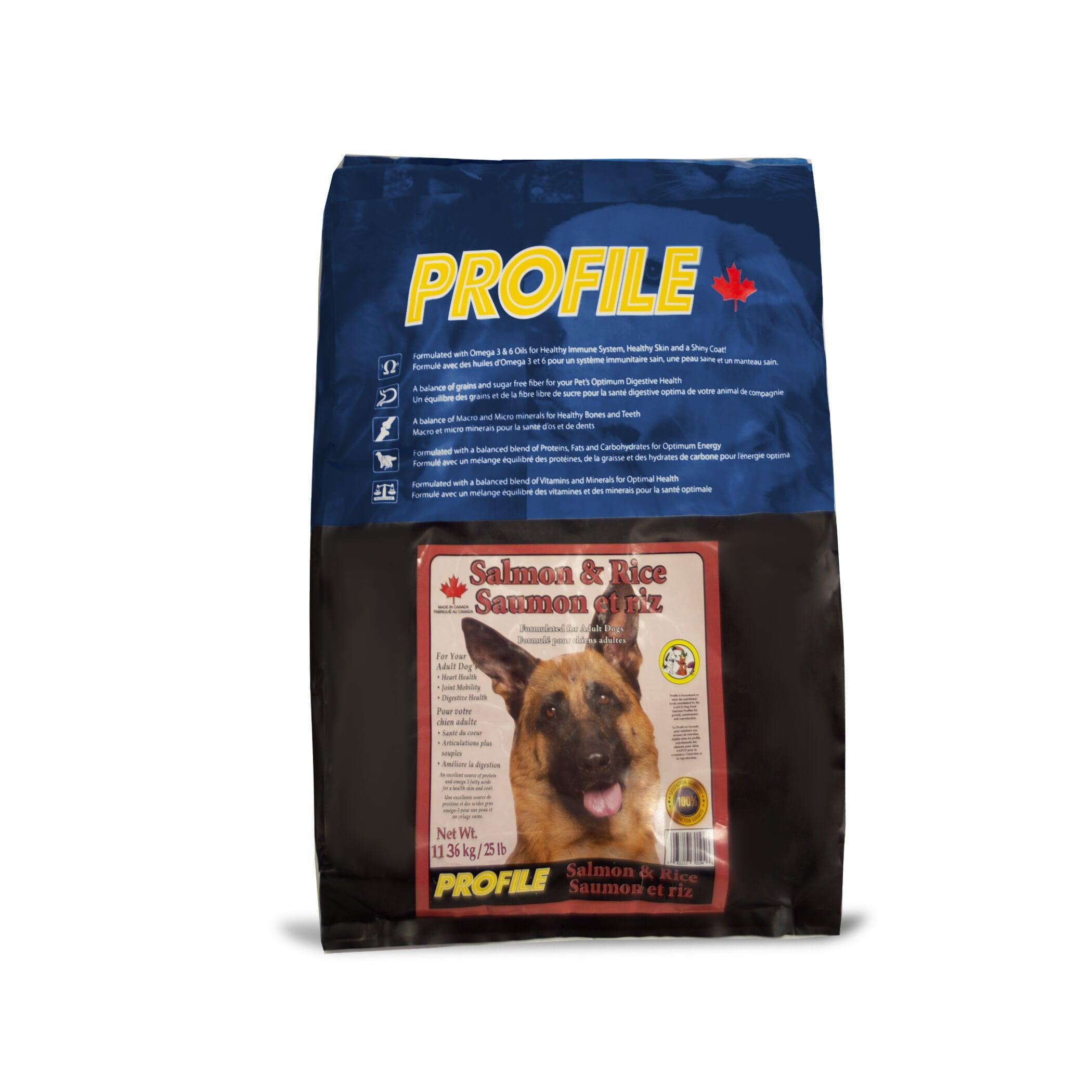 Profile Salmon & Rice Dry Dog Food, 11.36-kg Size: 11.36-kg