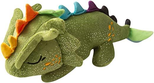 Snugarooz Drowsy the Dragon Dog Toy, Green, 14-in
