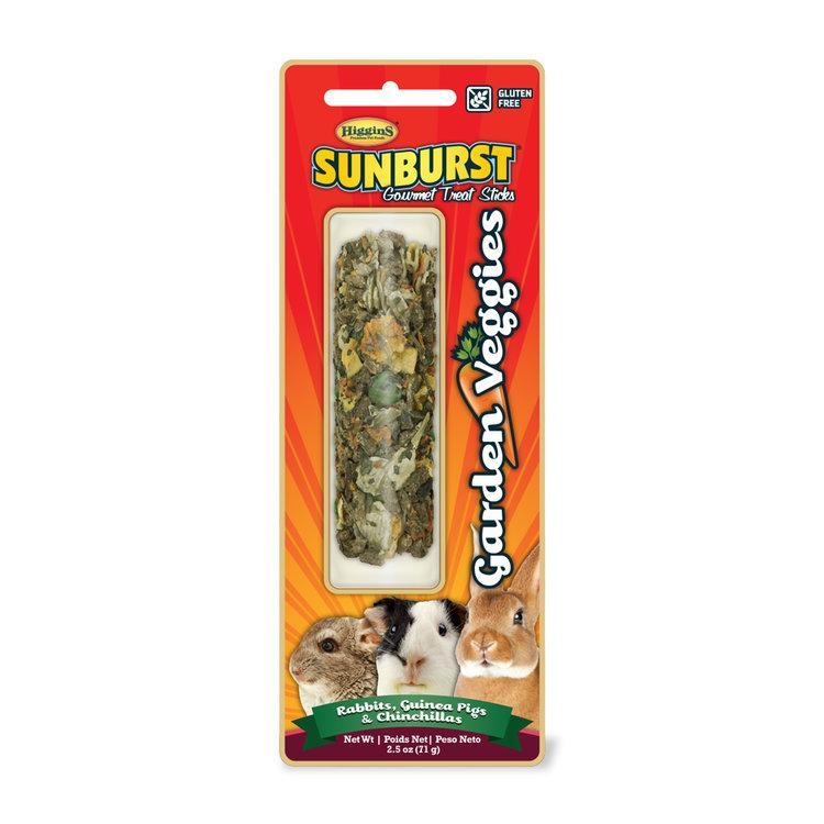 Higgins Sunburst Garden Veggies Sticks Rabbits & Guinea Pigs & Chinchillas Treats, 2.5-oz