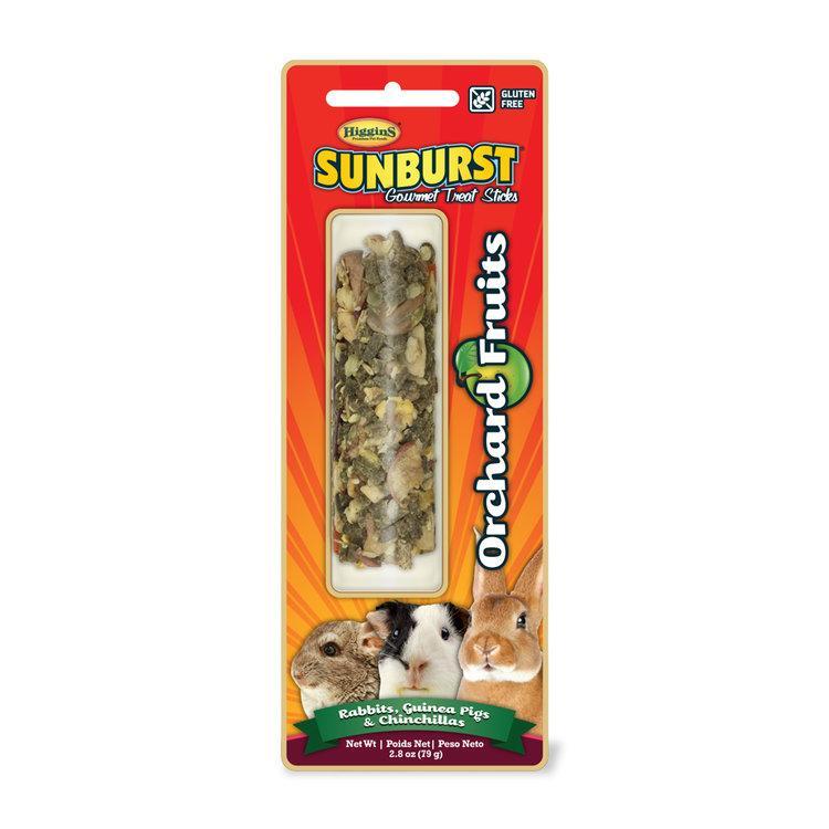 Higgins Sunburst Orchard Fruits Sticks Rabbits, Guinea Pigs & Chinchillas Treats, 2.8-oz