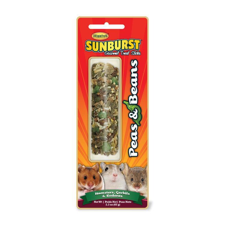 Higgins Sunburst Peas & Beans Sticks Hamsters, Gerbils & Rodents Treats, 2.3-oz