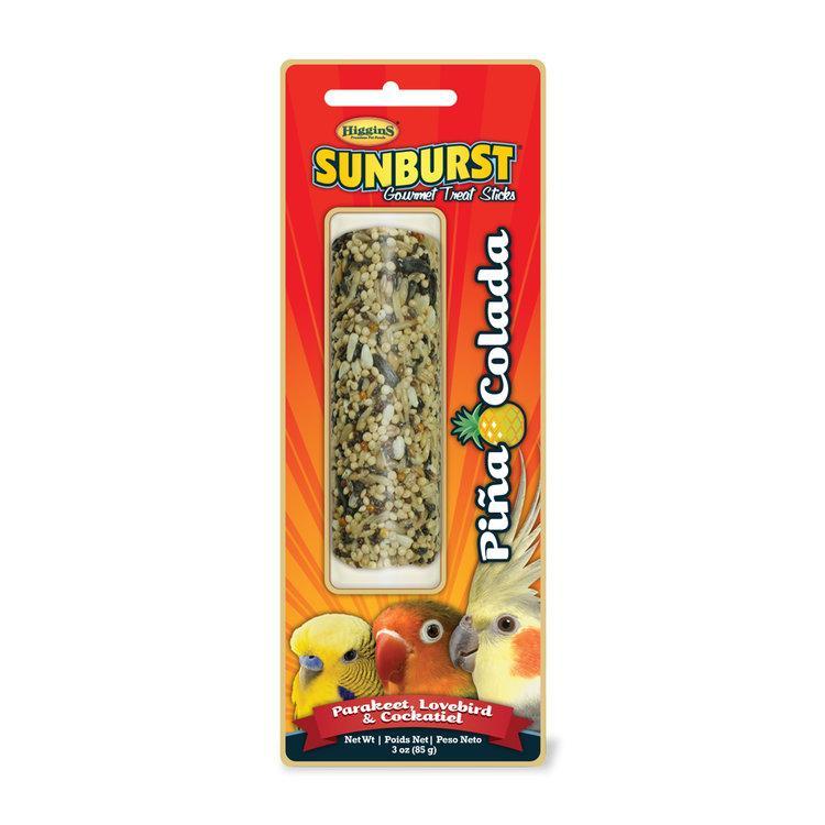 Higgins Sunburst Pina Colada Sticks Parakeet, Lovebird & Cockatiel Bird Treats, 3-oz