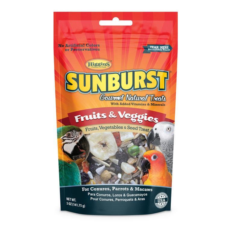 Higgins Sunburst Fruits & Veggies Bird Treats, 5-oz