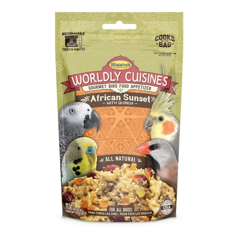 Higgins Worldly Cuisines African Sunset Bird Food, 2-oz