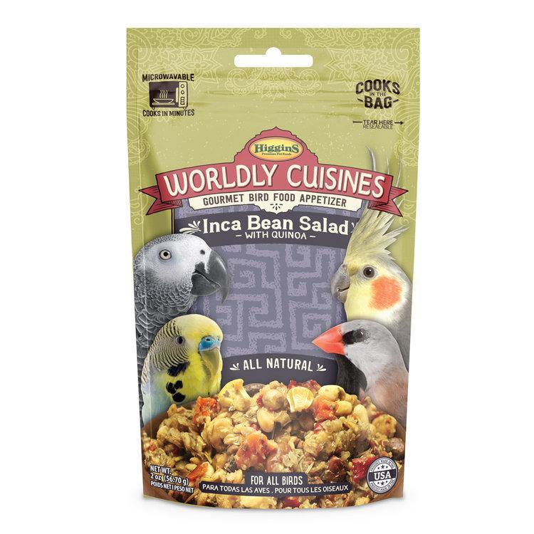 Higgins Worldly Cuisines Inca Bean Salad Bird Food, 2-oz