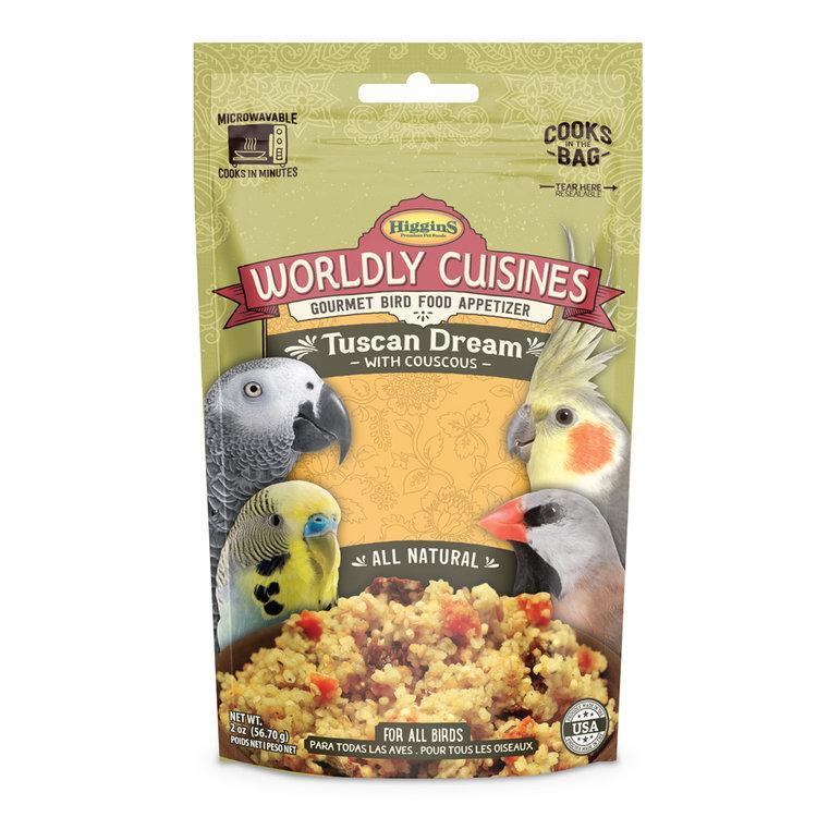 Higgins Worldly Cuisines Tuscan Dream Bird Food, 2-oz