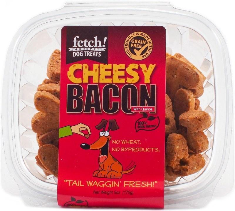 Fetch! Dog Treats Cheesy Bacon Dog Treats, 6-oz