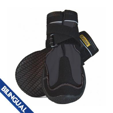 Muttluks Snow Mushers Dog Boots, Grey, Size 3, 2-pk