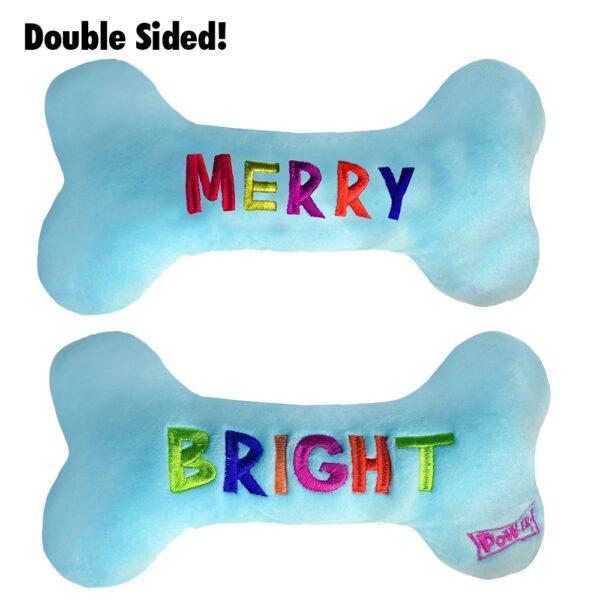 Lulubelles Power Plush Merry & Bright Bone Dog Toy
