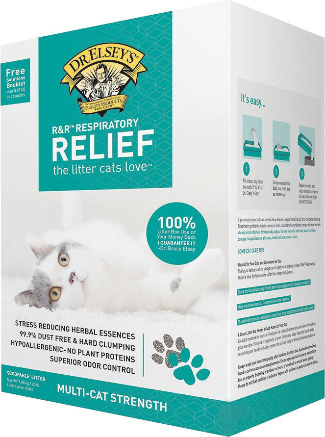Dr. Elsey's Precious Cat Respiratory Relief Clumping Clay Cat Litter, 20-lb box (Size: 20-lb box) Image