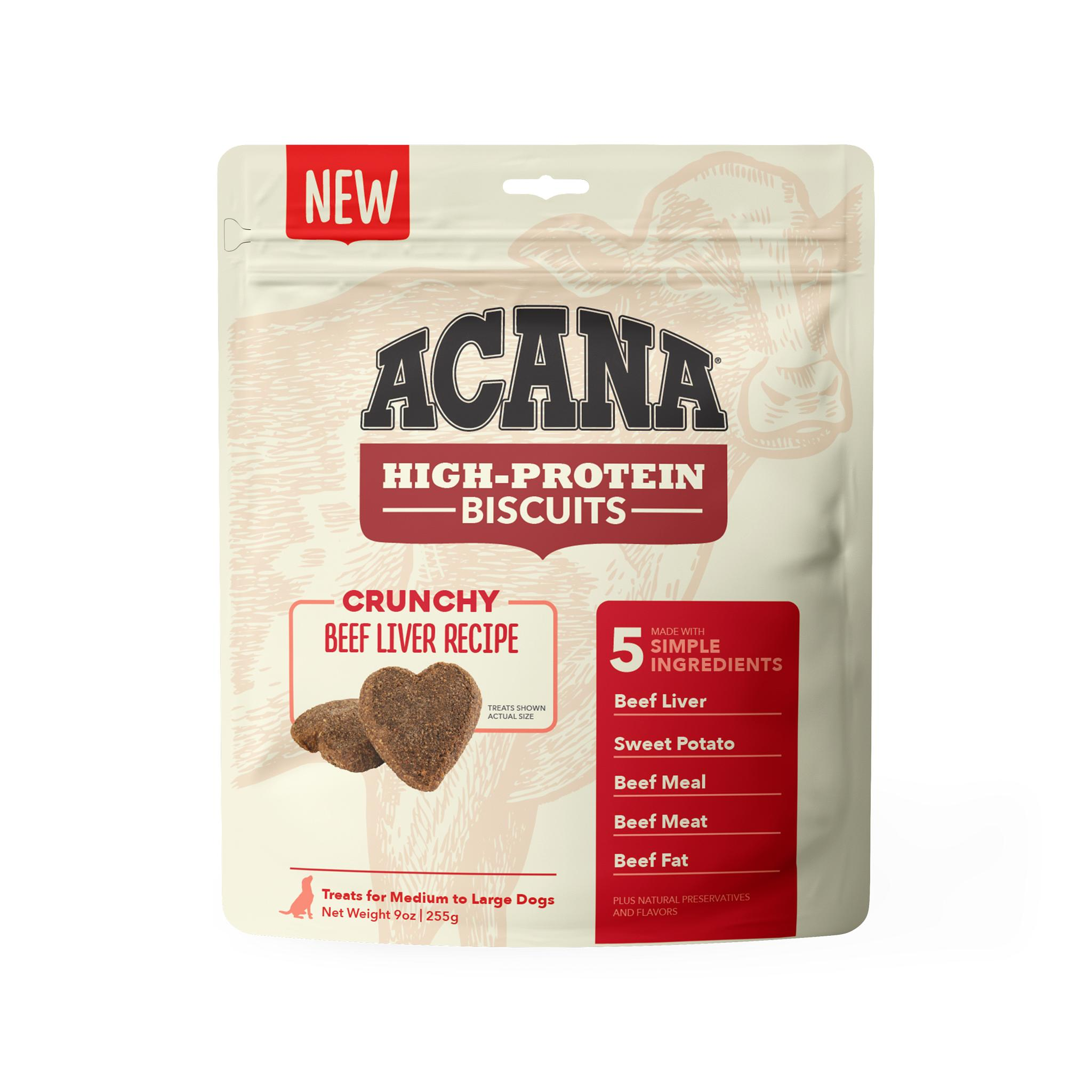 ACANA Crunchy Biscuits Beef Liver Recipe Dog Treats, Large