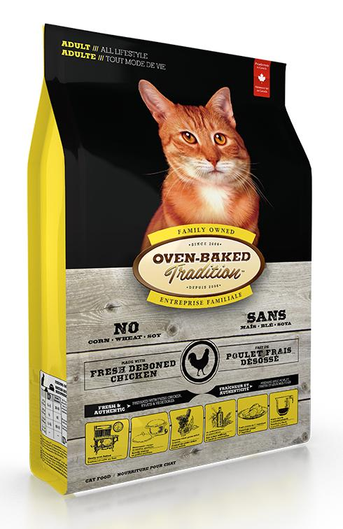 Oven-Baked Tradition Chicken Dry Cat Food, 10-lb