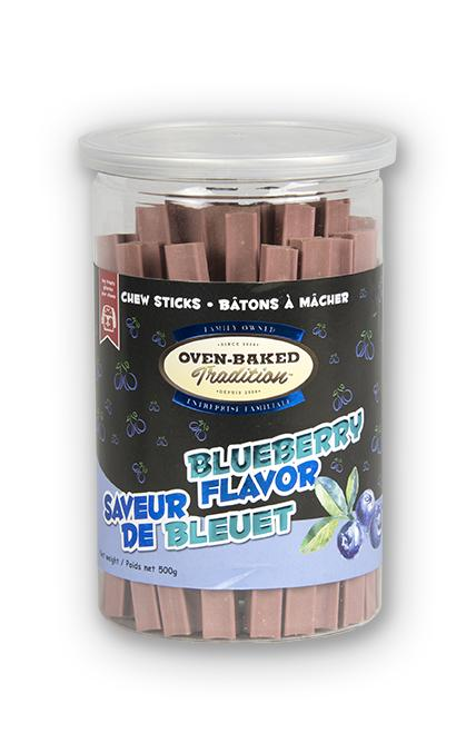 Oven-Baked Tradition Blueberry Chew Sticks Dog Treats, 500-gram