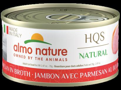 Almo Ham Parmesan in Broth Wet Cat Food, 2.47-oz
