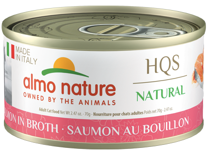 Almo Nature HQS Natural Ham with Turkey in Broth Wet Cat Food, 2.47-oz