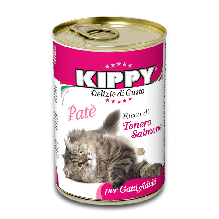 Kippy Wet Cat Food, Salmon, 14.8-oz