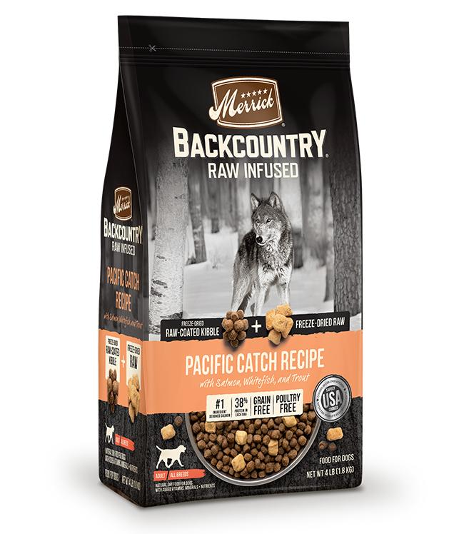 Merrick Backcountry Raw Infused Pacific Catch Dry Dog Food, 20-lb