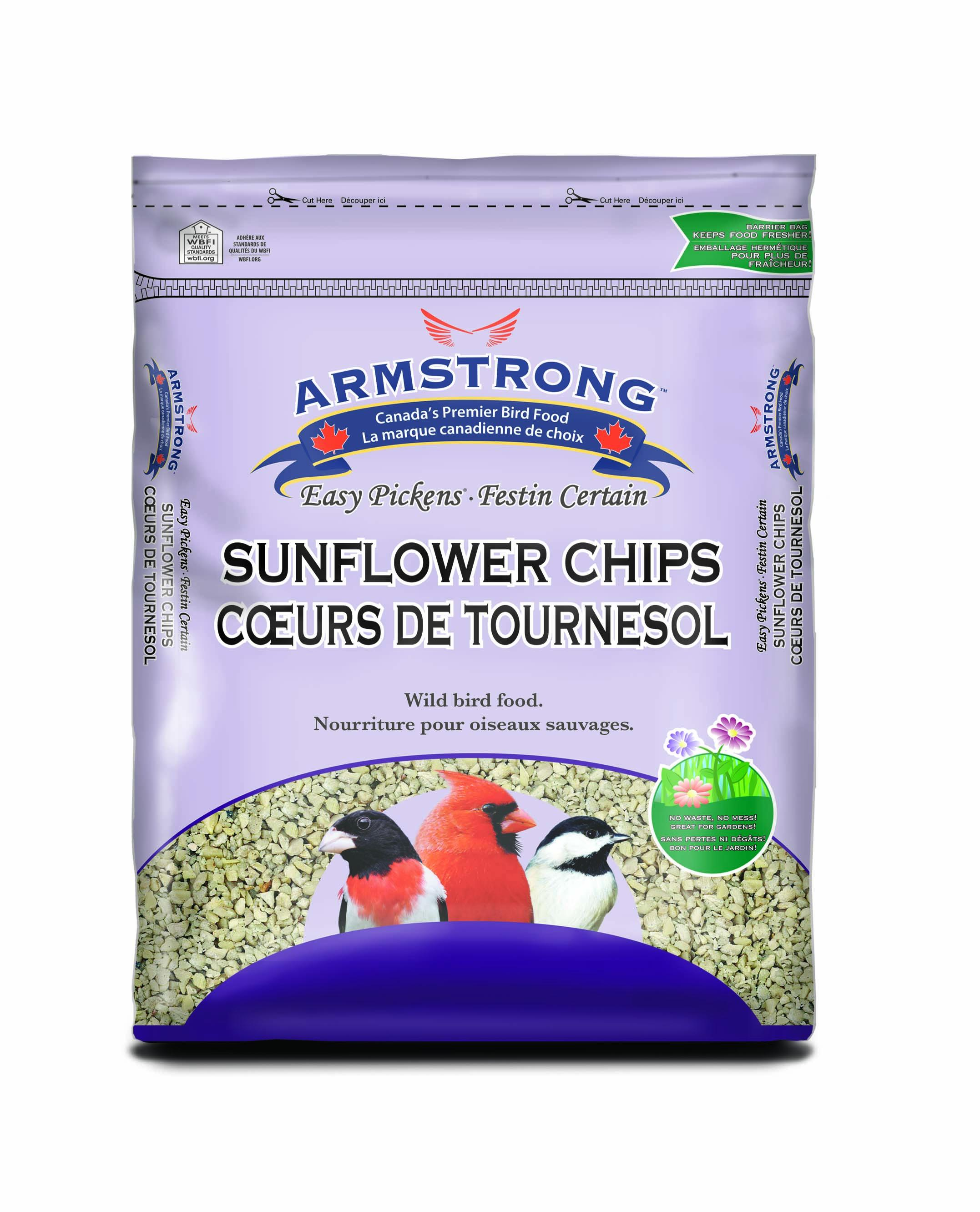 Armstrong Easy Pickens Sunflower Chips Wild Bird Food, 1.8-kg