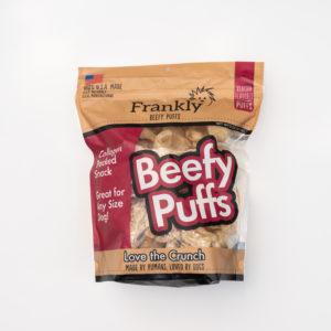 Frankly Beefy Puffs Dog Treats, Venison, 5-oz