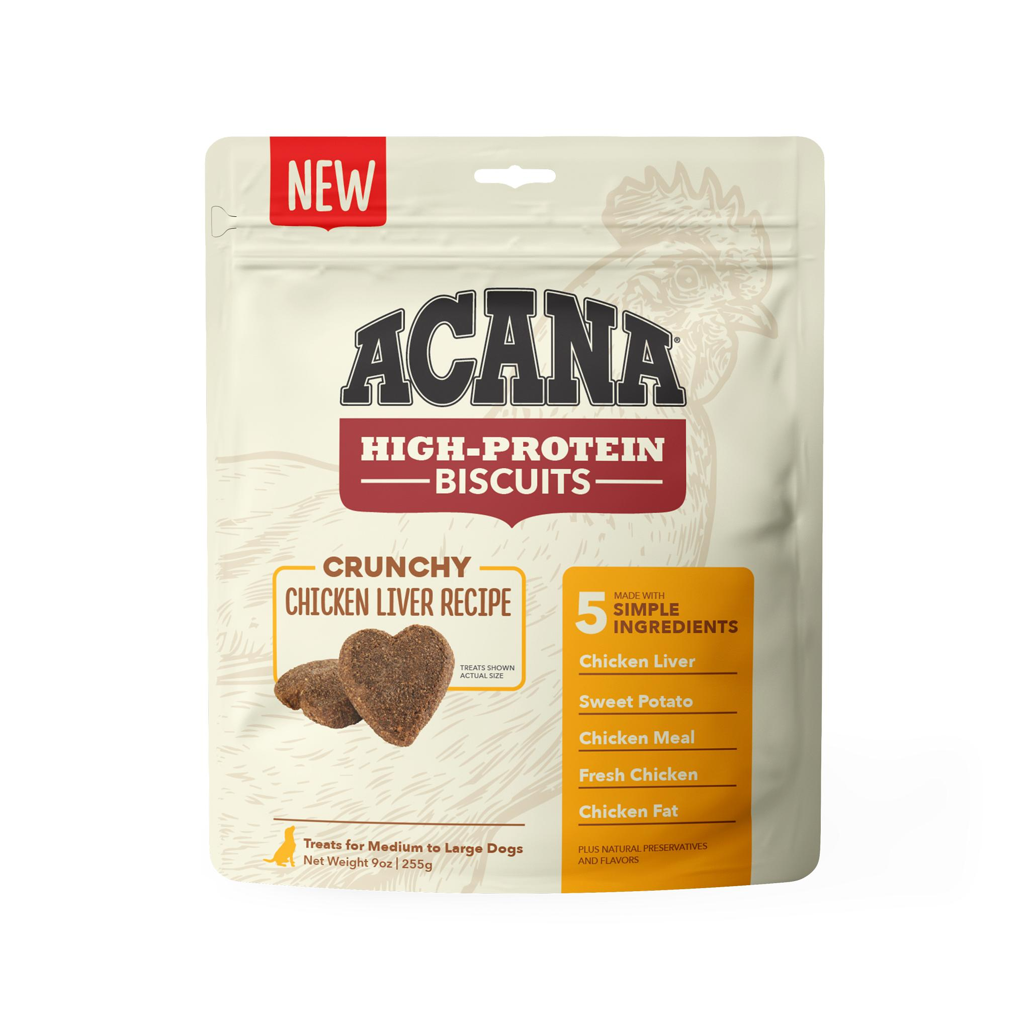 ACANA Crunchy Biscuits Chicken Liver Recipe Dog Treats, Large
