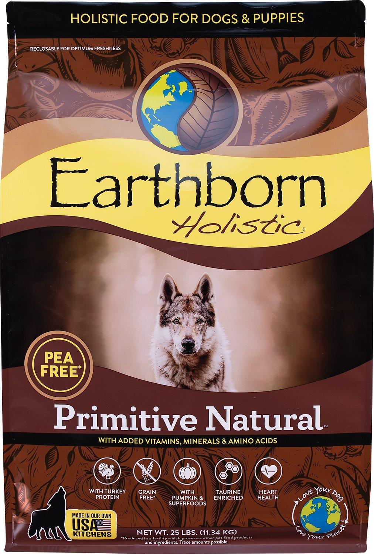 Earthborn Holistic Primitive Natural Grain-Free Natural Dry Dog Food, 25-lb