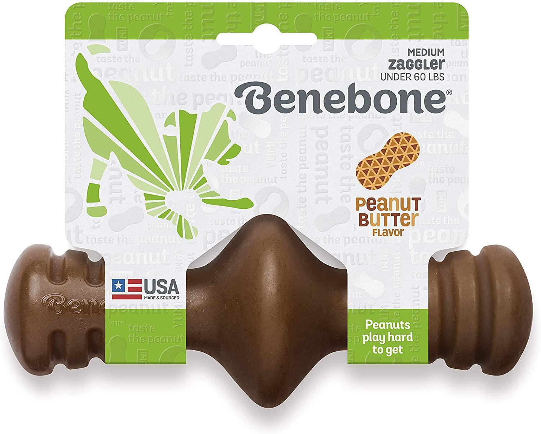 Benebone Zaggler Peanut Butter Flavored Dog Toy, Medium